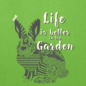 garden rabbit nature Animal Save Mandala Vegan lif - Tote Bag