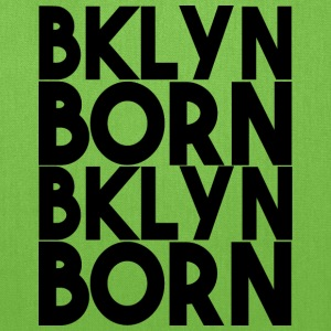 BKLYN Born Bold Repeat Black Graphic - Tote Bag