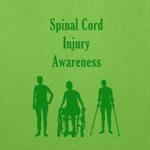 Spinal Cord Injury Awareness - Green - Tote Bag