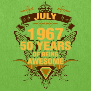 July 1967 50 Years of Being Awesome - Tote Bag