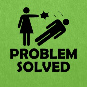 Problem Solved Funny Girlfriend / Wife Tee Shirt - Tote Bag
