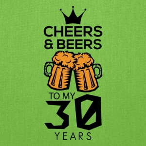 Cheers Beers To My Thirty Years Tee Shirt - Tote Bag
