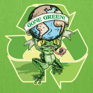 Gone Green Earth Day Frog - Tote Bag