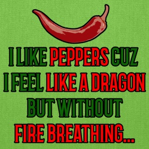 I like peppers cuz i feel like a dragon T-shirt! - Tote Bag