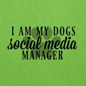 I am my dogs social media manager - Tote Bag