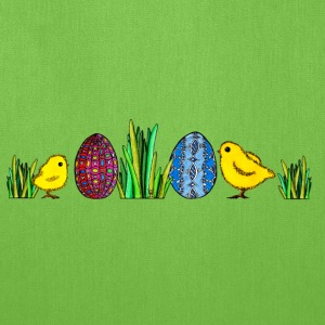 Easter Egg Easteregg chicks Happy Easter Grass - Tote Bag