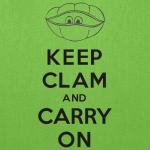 Keep clam and carry on - Tote Bag