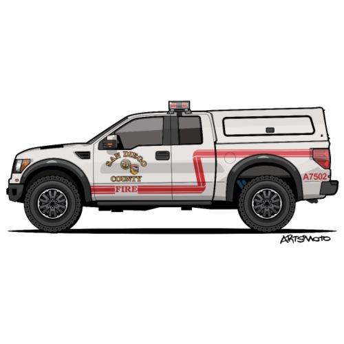 Cal Fire SDC R4pt0r Truck - Tote Bag