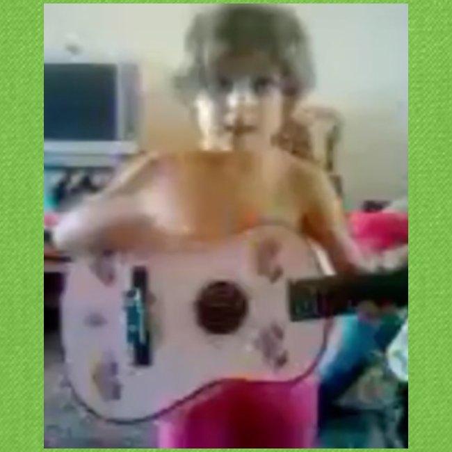 VERY RARE CONCERNED BABI NILA AND PLAYING GUITAR