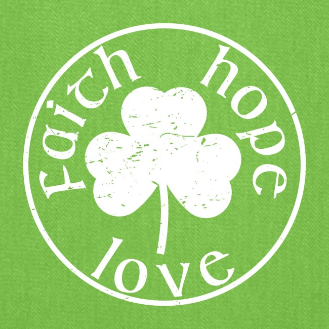 Irish Shamrock Faith Hope Love