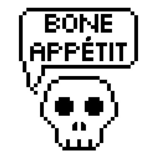 Bone Appetit (Black Outline) - Tote Bag