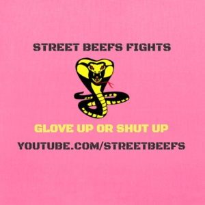 STREET BEEFS FIGHTS LOGO BLACK ON WHITE - Tote Bag