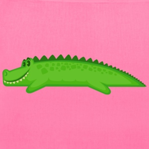 cartoon-crocodile-alligator-reptile-positive - Tote Bag