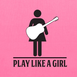Play like a Girl - Acoustic - Tote Bag