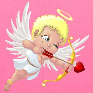 cupid-wings-heart-bow-smile - Tote Bag