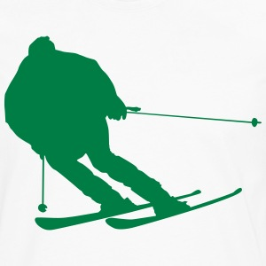 snow boarder silhouette 4 - Men's Premium Long Sleeve T-Shirt