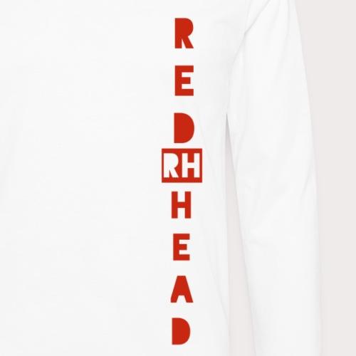 RED HEAD side design - Men's Premium Long Sleeve T-Shirt