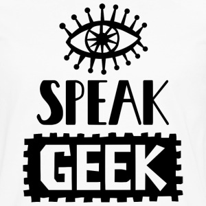 Eye Speak Geek T Shirt - Men's Premium Long Sleeve T-Shirt