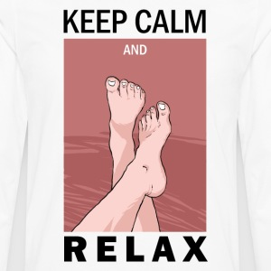 KEEP CALM AND RELAX - Men's Premium Long Sleeve T-Shirt