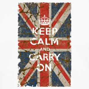 UK Flag and Keep Calm Hybrid - Men's Premium Long Sleeve T-Shirt