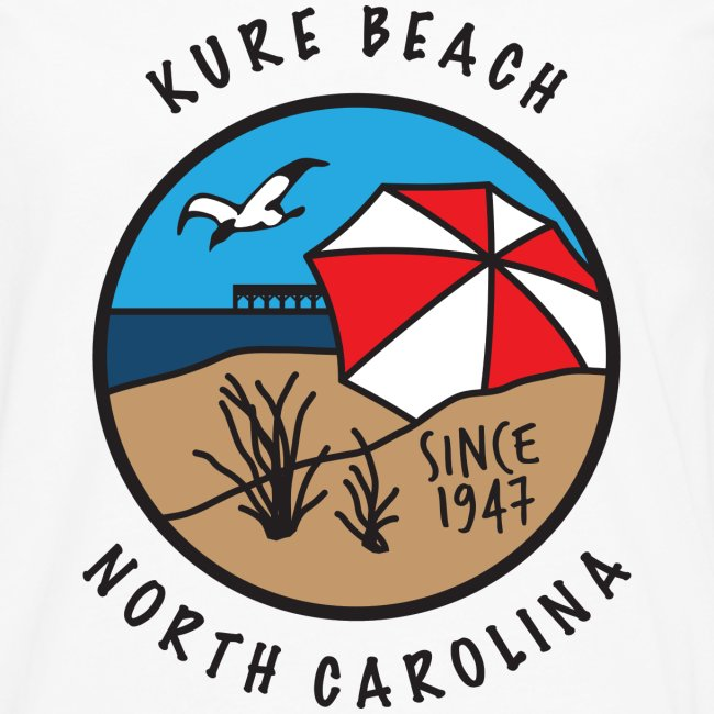 Kure Beach Day-Black Lettering-Front Only