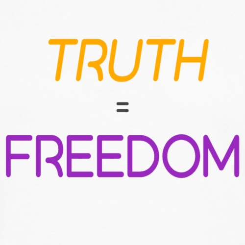 truth is freedom colour trsp - Men's Premium Long Sleeve T-Shirt