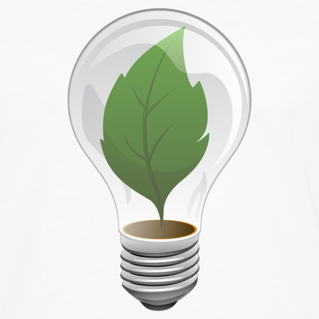 Clean Energy Green Leaf Illustration