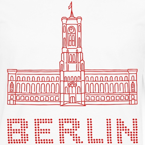 Red City Hall Berlin - Men's Premium Long Sleeve T-Shirt