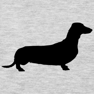 Vector dog Silhouette - Men's Premium Long Sleeve T-Shirt