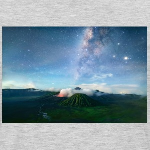 Volcano with the pretty Galaxy - Men's Premium Long Sleeve T-Shirt