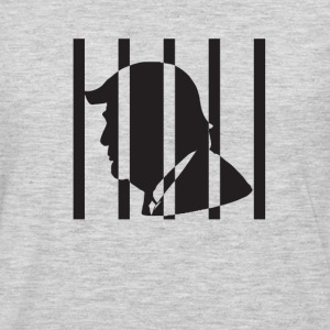 trump behind bars - Men's Premium Long Sleeve T-Shirt