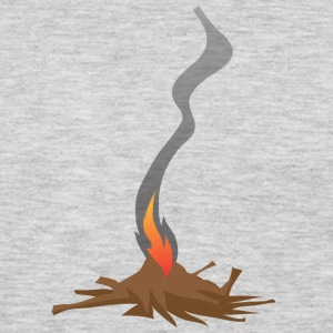 Native American Fire Indian awesome vector art - Men's Premium Long Sleeve T-Shirt