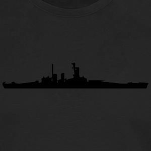 Vector Navy warship Silhouette - Men's Premium Long Sleeve T-Shirt