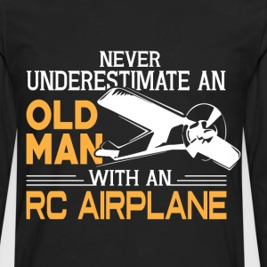 Old Man With An RC Airplane T Shirt - Men's Premium Long Sleeve T-Shirt