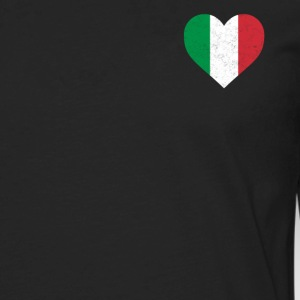 Italy Flag Shirt Heart - Italian Shirt - Men's Premium Long Sleeve T-Shirt