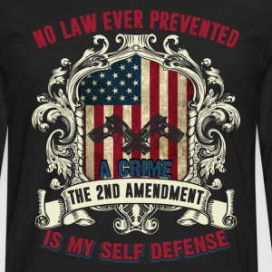 Gun Owners Shirt My Self Defense Shirt - Men's Premium Long Sleeve T-Shirt