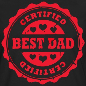 Certified Best Dad with hearts - Men's Premium Long Sleeve T-Shirt