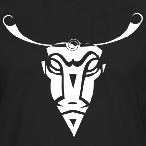 Cow Skull Tribal Art - Men's Premium Long Sleeve T-Shirt