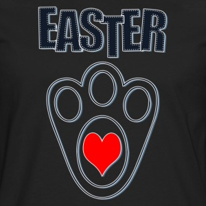Easter Bunny Footprints, Easter Heart Bunny - Men's Premium Long Sleeve T-Shirt