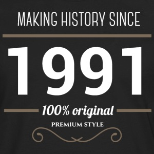 Making history since 1991 T Shirt - Men's Premium Long Sleeve T-Shirt