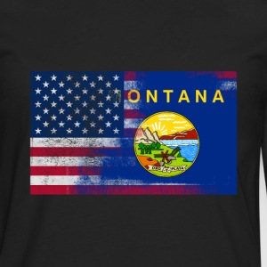 Montana American Flag Fusion - Men's Premium Long Sleeve T-Shirt