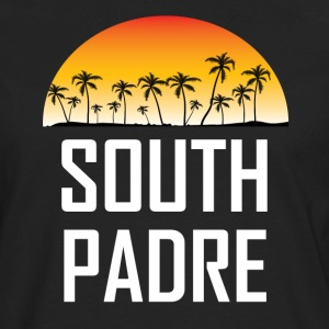 South Padre Island Sunset Palm Trees Beach - Men's Premium Long Sleeve T-Shirt