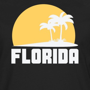Florida Sunset Palm Trees Beach - Men's Premium Long Sleeve T-Shirt
