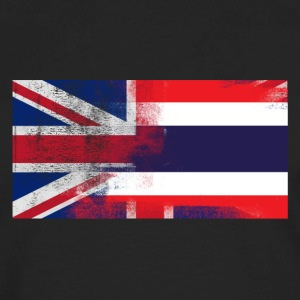 British Thai Half Thailand Half UK Flag - Men's Premium Long Sleeve T-Shirt