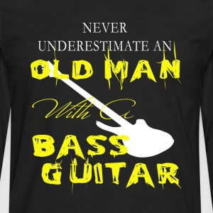 Old Man With A Bass Guitar T Shirt - Men's Premium Long Sleeve T-Shirt