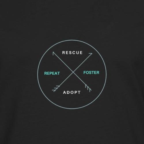 Rescue, Foster, Adopt, Repeat - Men's Premium Long Sleeve T-Shirt