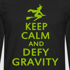 Wicked. Keep Calm And Defy Gravity. - Men's Premium Long Sleeve T-Shirt