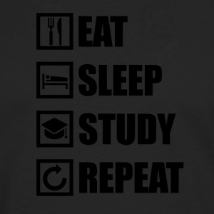 EAT SLEEP STUDY REPEAT - Men's Premium Long Sleeve T-Shirt
