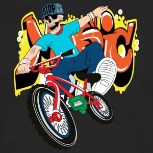 Bike skeleton rap hip hop vector illustration cool - Men's Premium Long Sleeve T-Shirt