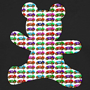 teddy bear filled with cars - Men's Premium Long Sleeve T-Shirt